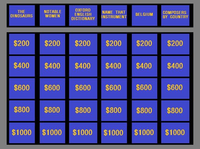 Jeopardy ESL Game - EFL / ESL Games - eslactive