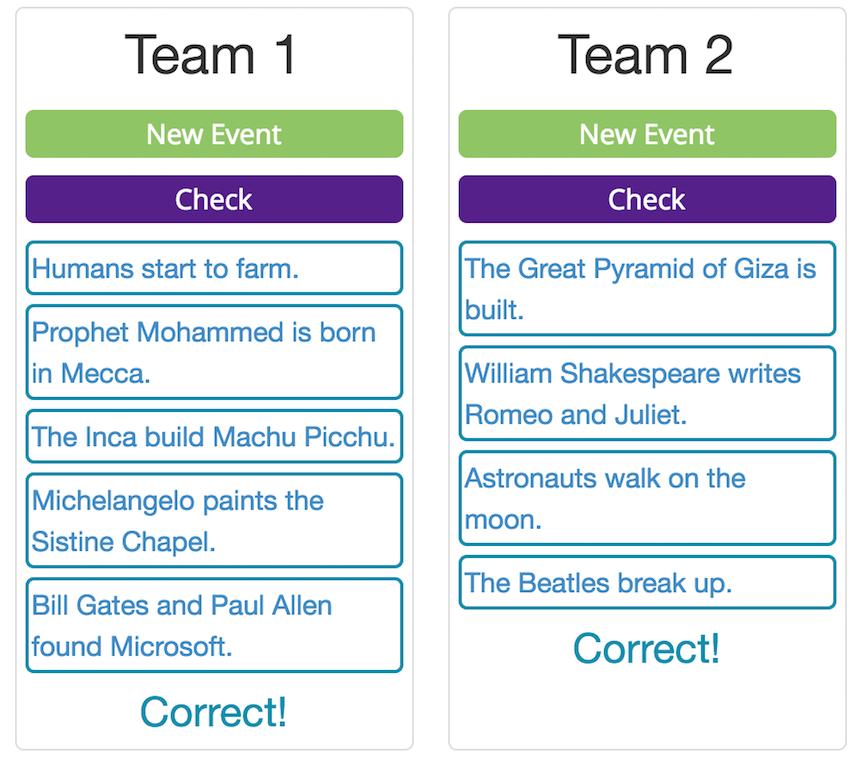 Effective English Grammar Games - Timeline